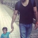 Akshay Dogra with his son