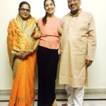 Yogita Bihani with her parents