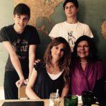 Jemima Goldsmith with her two children
