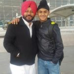 Damanpreet Singh with his father