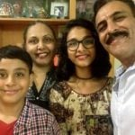 Pawan Chopra with his wife Asha Rani Singh and children