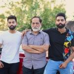 Parmish Verma with his father and brother