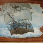 malunek statek