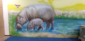 animal wall mural