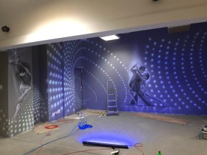 Luxury wall decorations - in the UV paint technique