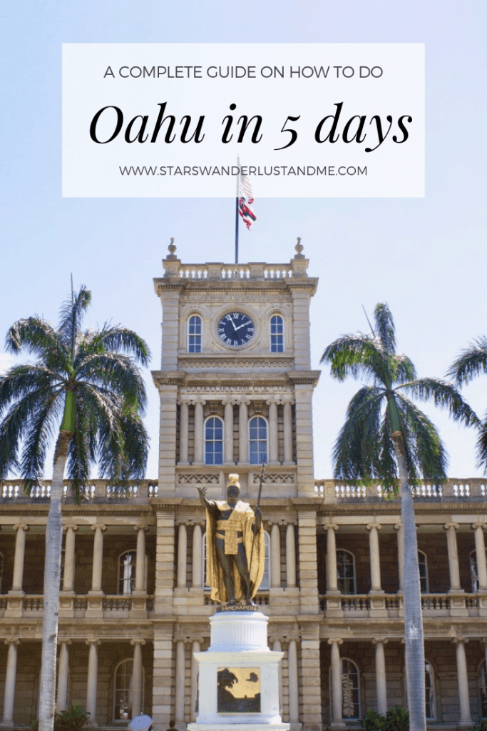 Oahu in 5 days pinterest