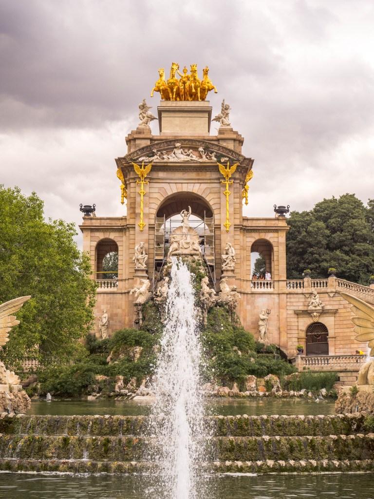 Parc de la Ciutadella fountain Barcelona