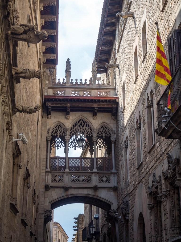 Gothic bridge Barcelona