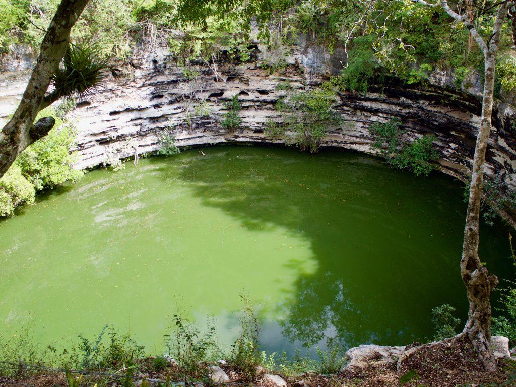 Scared cenote chichen itza Mexico