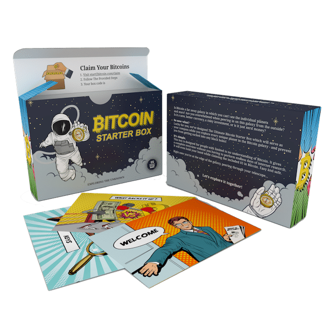 Bitcoin Starter Box with cards