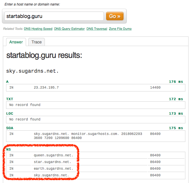 UltraTools DNS Lookup Tool