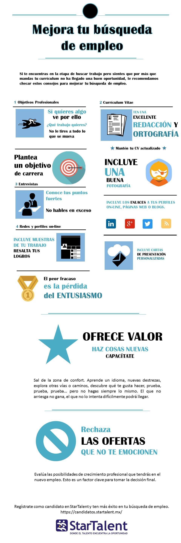 Mejora tu búsqueda de empleo Infografía