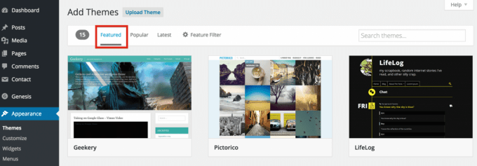 Featured themes