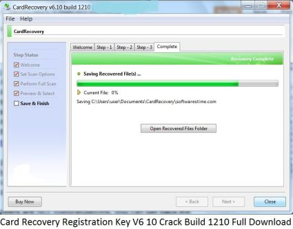 how to get registration key for cardrecovery
