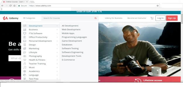 How to create a udemy course - udemy screenshot 1
