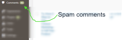 spam comments in WP