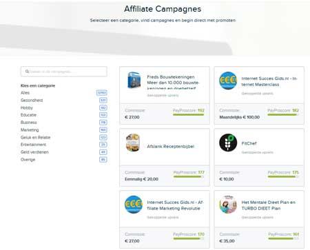 wat kost affiliate marketing