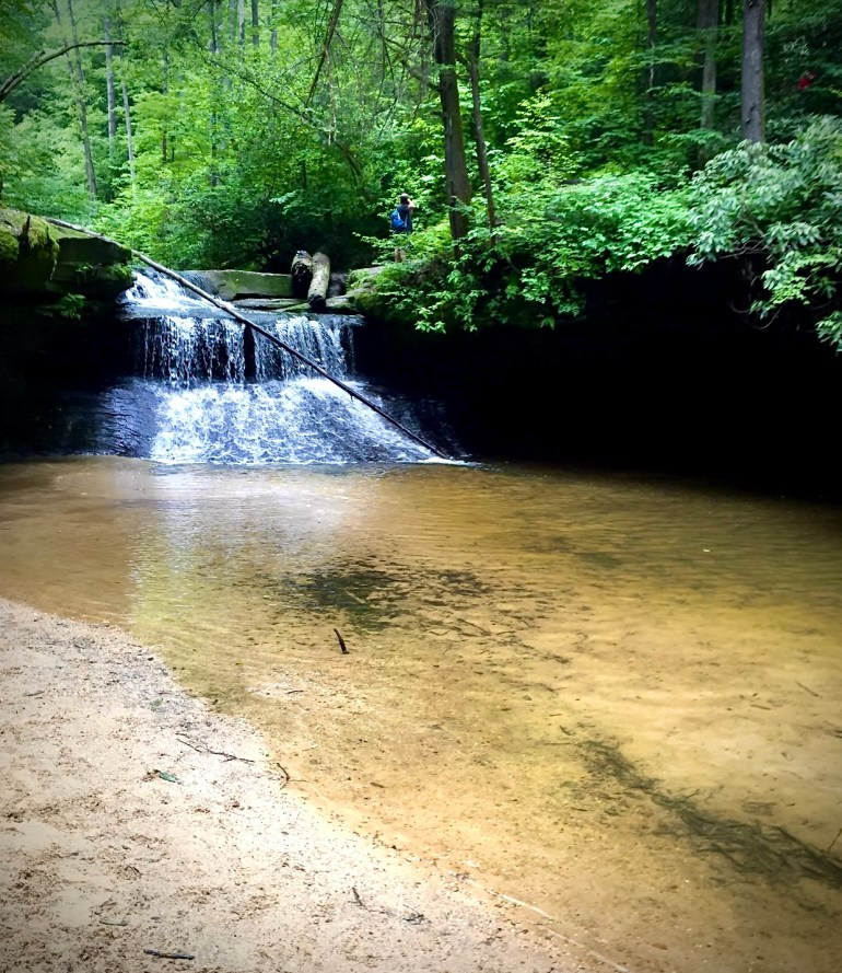 waterfall, rock bridge, red river gorge, places to cool off