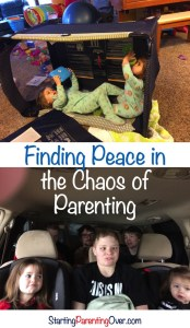 Feeling overwhelmed with the chaos of parenting? Find tips and encouragement for the days ahead!