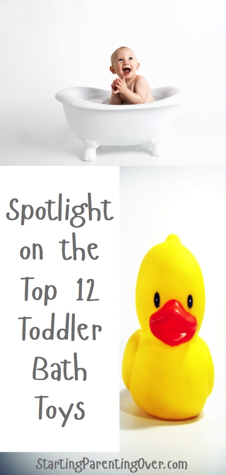 Toddler bath toys make bath time for toddlers so much fun! Check out these toys for not only fun but also learning time in the tub!