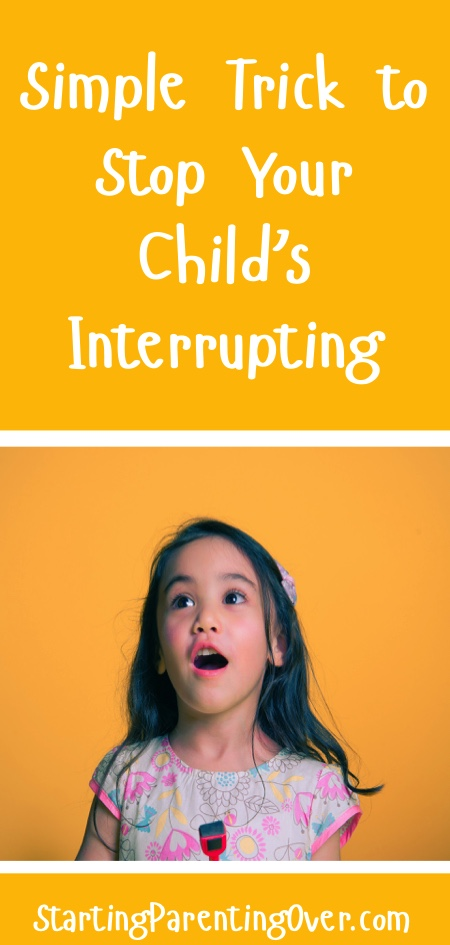 How can a parent have even a brief conversation without their little one interrupting? I've used this simple trick for many years, and it really works!