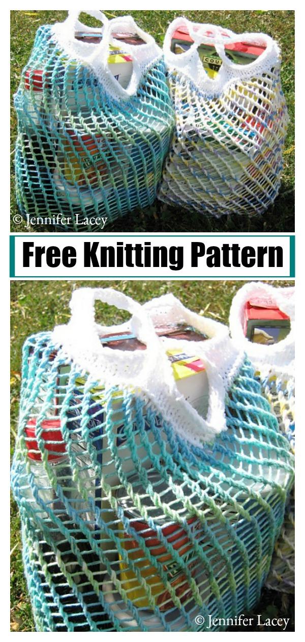 Lacy Market Bag Free Knitting Pattern