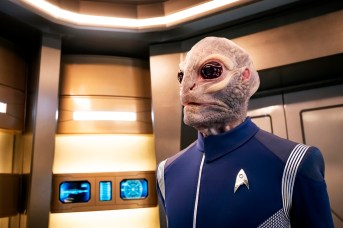 Ep #201 - Pictured: David Benjamin Tomlinson as Linus of the CBS All Access series STAR TREK: DISCOVERY. Photo Cr: Jan Thijs/CBS © 2018 CBS Interactive. All Rights Reserved.