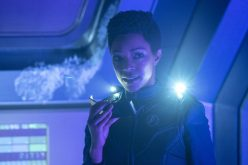 """""""Saints of Imperfection"""" -- Episode #205 -- Pictured: Sonequa Martin-Green as Burnham of the CBS All Access series STAR TREK: DISCOVERY. Photo Cr: Michael Gibson/CBS ©2018 CBS Interactive, Inc. All Rights Reserved."""