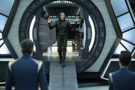 """Saints of Imperfection"" -- Episode #205 -- Pictured: Michelle Yeoh as Philippa Georgiou of the CBS All Access series STAR TREK: DISCOVERY. Photo Cr: Michael Gibson/CBS ©2018 CBS Interactive, Inc. All Rights Reserved."