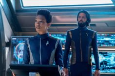 """The Sound of Thunder"" -- Episode #206 -- Pictured (l-r): Sonequa Martin-Green as Burnham; Shazad Latif as Tyler of the CBS All Access series STAR TREK: DISCOVERY. Photo Cr: Michael Gibson/CBS ©2018 CBS Interactive, Inc. All Rights Reserved."