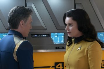 """""""An Obol For Charon"""" -- Ep #204 - Pictured: Rebecca Romijn as Number One of the CBS All Access series STAR TREK: DISCOVERY. Photo Cr: Michael Gibson/CBS © 2018 CBS Interactive. All Rights Reserved."""