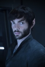Ep #207 - Pictured: Ethan Peck as Spock of the CBS All Access series STAR TREK: DISCOVERY. Photo Cr: Michael Gibson/CBS © 2018 CBS Interactive. All Rights Reserved.