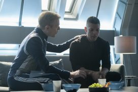 """If Memory Serves"" -- Ep#208 -- Anthony Rapp as Stamets; Wilson Cruz as Culber of the CBS All Access series STAR TREK: DISCOVERY. Photo Cr: Michael Gibson/CBS ©2018 CBS Interactive, Inc. All Rights Reserved."