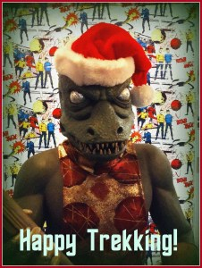 Even the Gorn is into the Christmas Season this year!