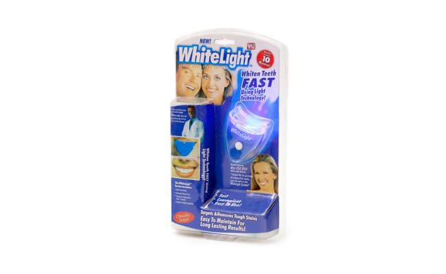 Отбеливание зубов ультрафиолетом дома white light
