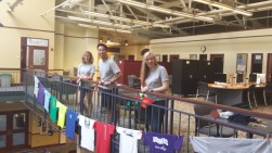 Hanging Shirts with the interns