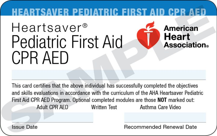 Heartsaver First Aid Cpr Aed Card Template Poemview