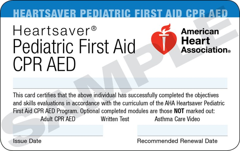 Heartsaver First Aid Cpr Aed Card Template | Letterjdi.org