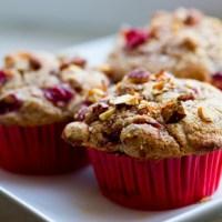 Cranberry almond swirl muffins