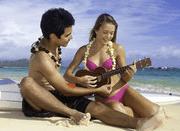 Ukulele on the beach