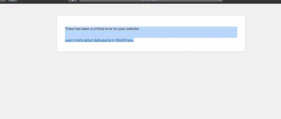 [Résolu] WordPress : Une erreur critique s'est produite sur votre site Web.  En savoir plus sur le débogage dans WordPress.