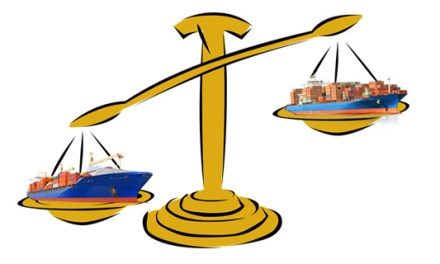 Trade deficit declines for the month of July