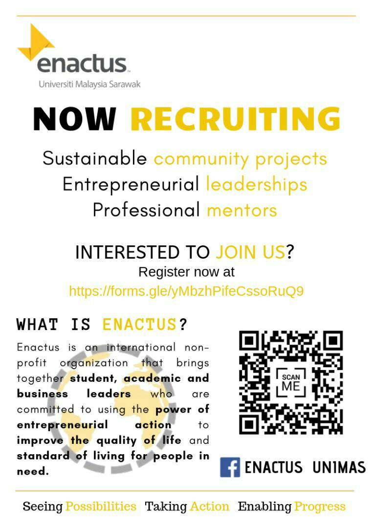 Welcome to be part of ENACTUS UNIMAS