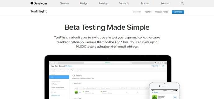 TestFlight - For Mobile App Apple Developers. Desktop and mobile app beta testing sites