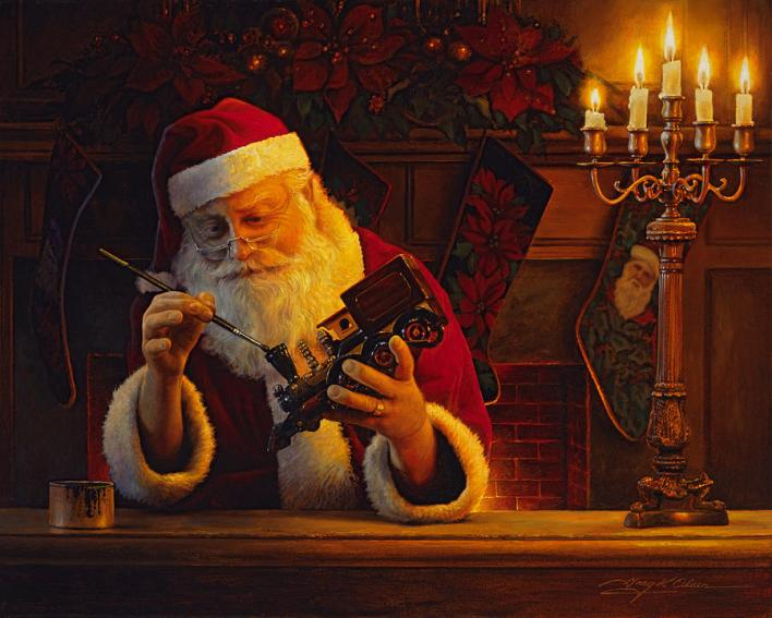 santachristmaspainting