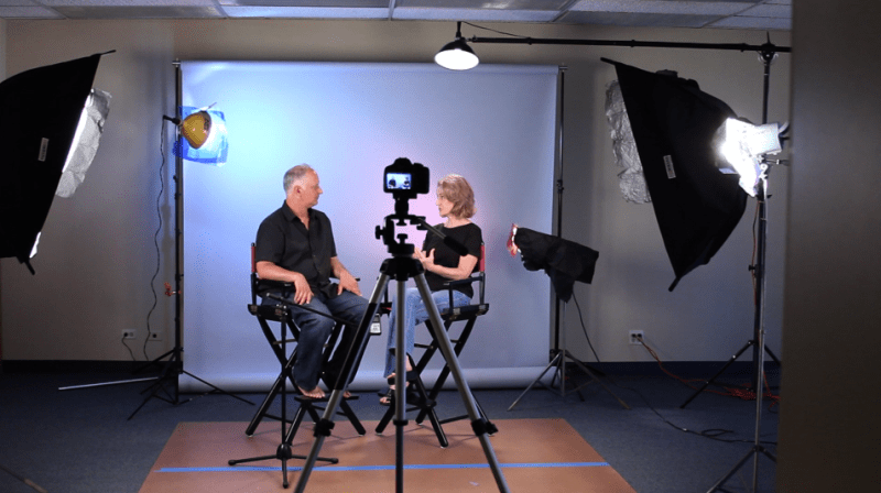 Studio interview for a corporate video
