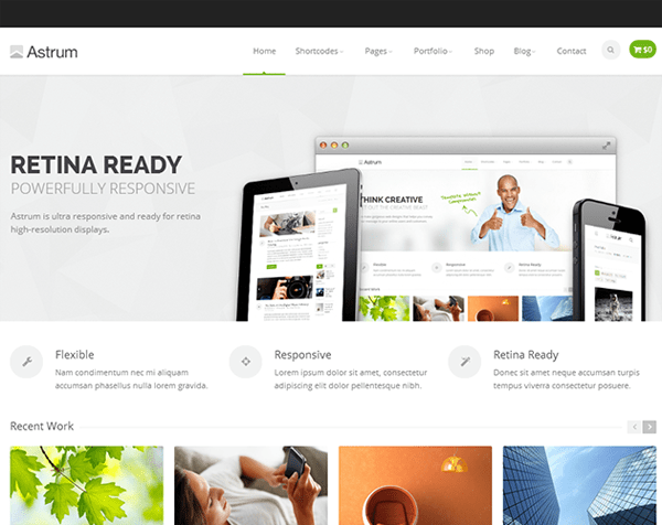 astrum business wordpress theme