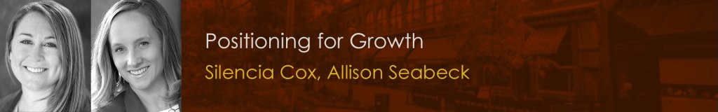 Join Candyce Edelen, Silencia Cox and Allison Seabeck discuss positioning for growth at FoCo Startup Week.