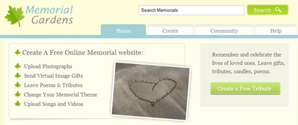 memorial-gardens.org - startup Featured on StartUpLift