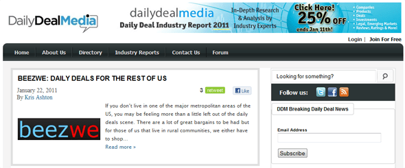 DailyDeal Media - Startup Featured on StartUpLift